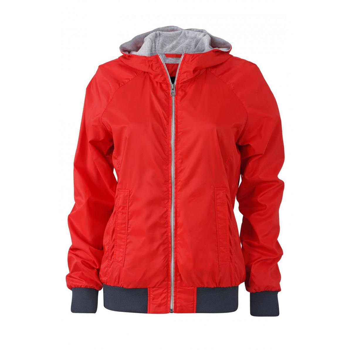 Куртка женская JN1107 Ladies Sports Jacket - Светло-красный/Темно-синий