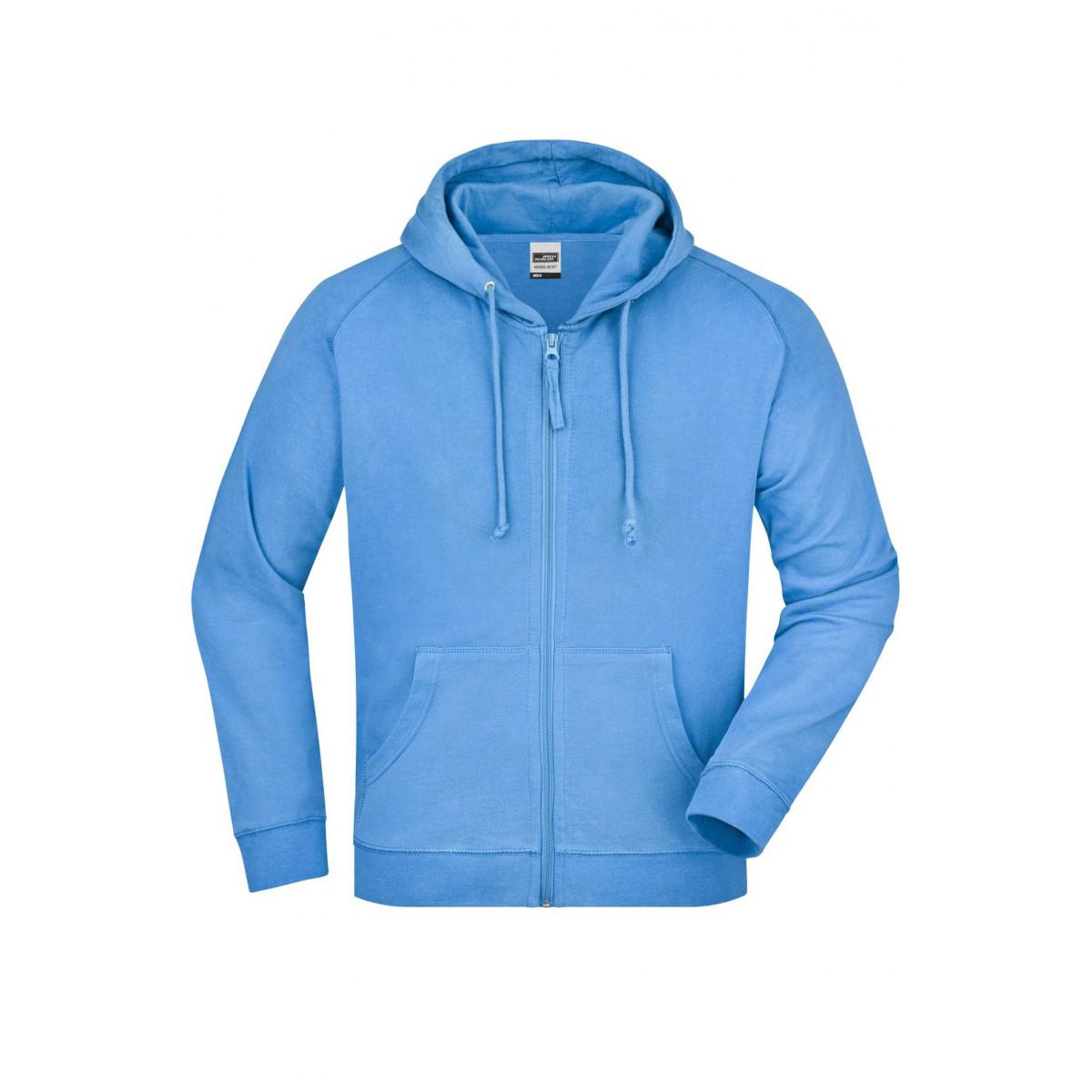 Толстовка мужская JN059 Hooded Jacket - Голубой