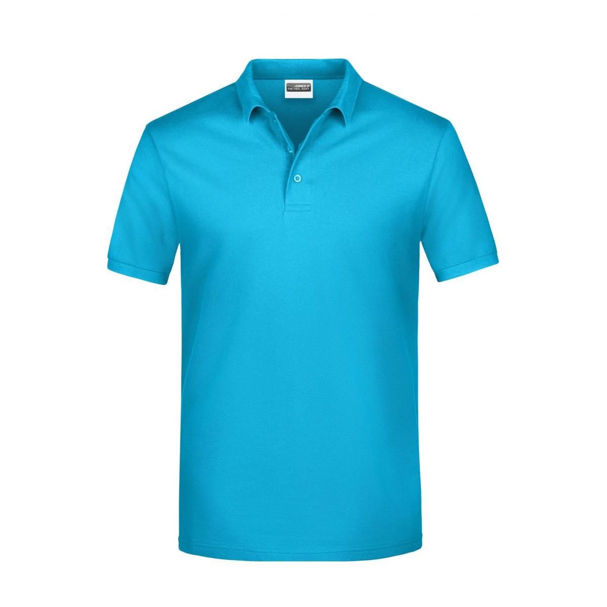 Рубашка поло мужская JN792 Basic Polo Man - Бирюзовый