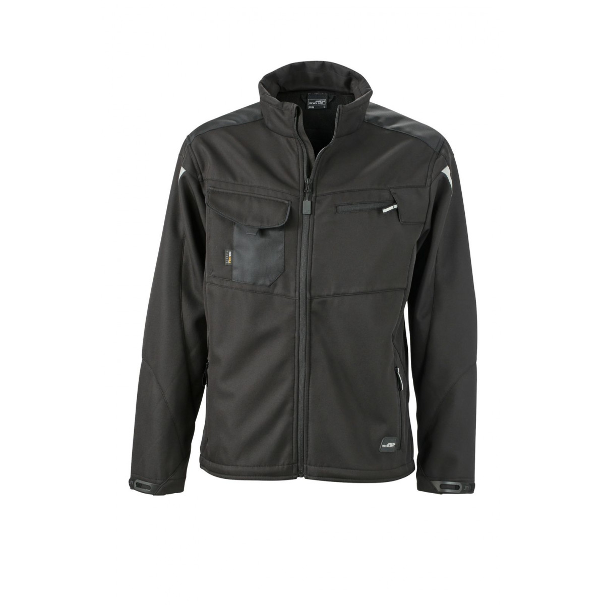 Куртка мужская JN844 Workwear Softshell Jacket - Черный/Черный