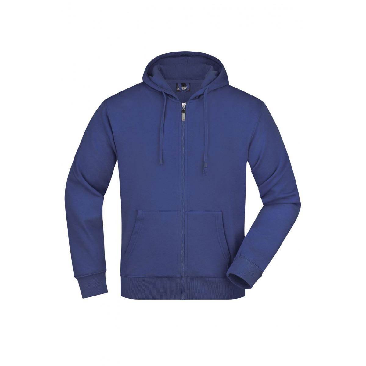 Толстовка мужская JN042 Mens Hooded Jacket - Ярко-синий