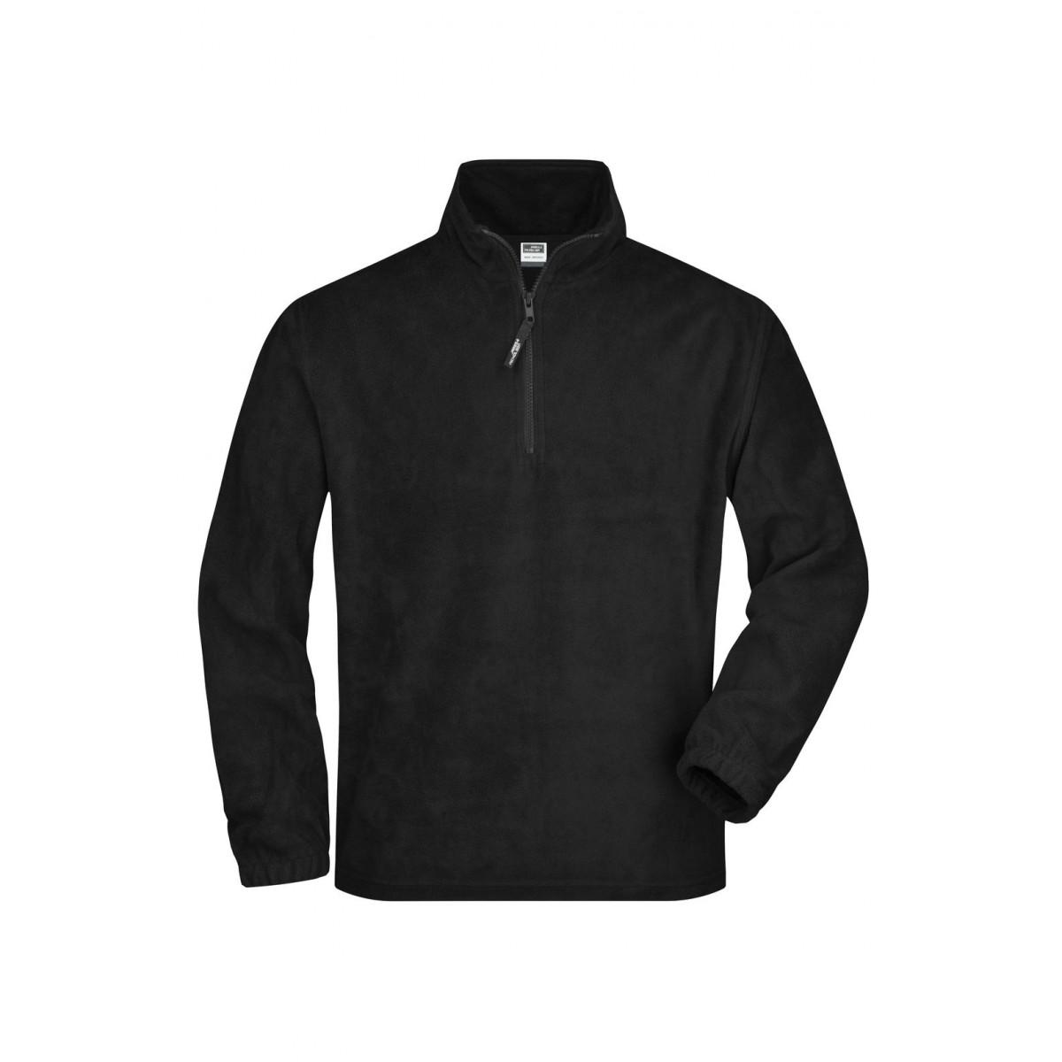 Толстовка мужская JN043 Half-Zip Fleece - Черный
