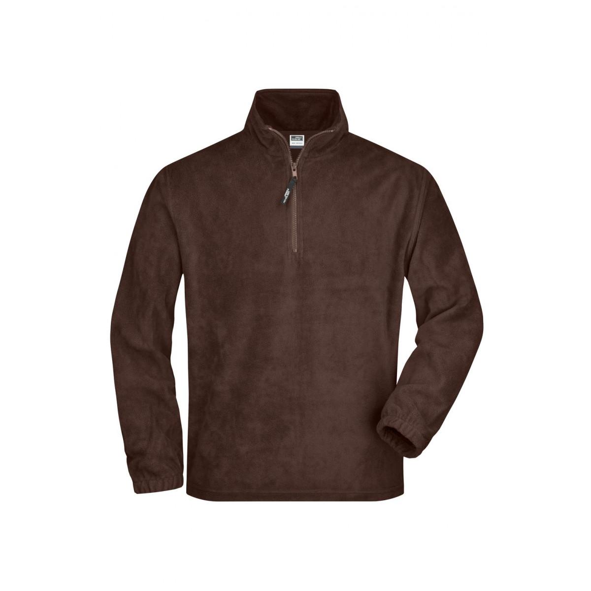 Толстовка мужская JN043 Half-Zip Fleece - Коричневый