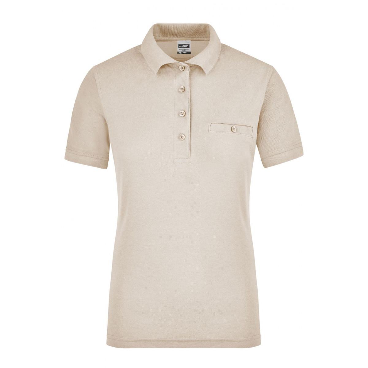 Рубашка поло женская JN867 Ladies Workwear Polo Pocket - Бежевый