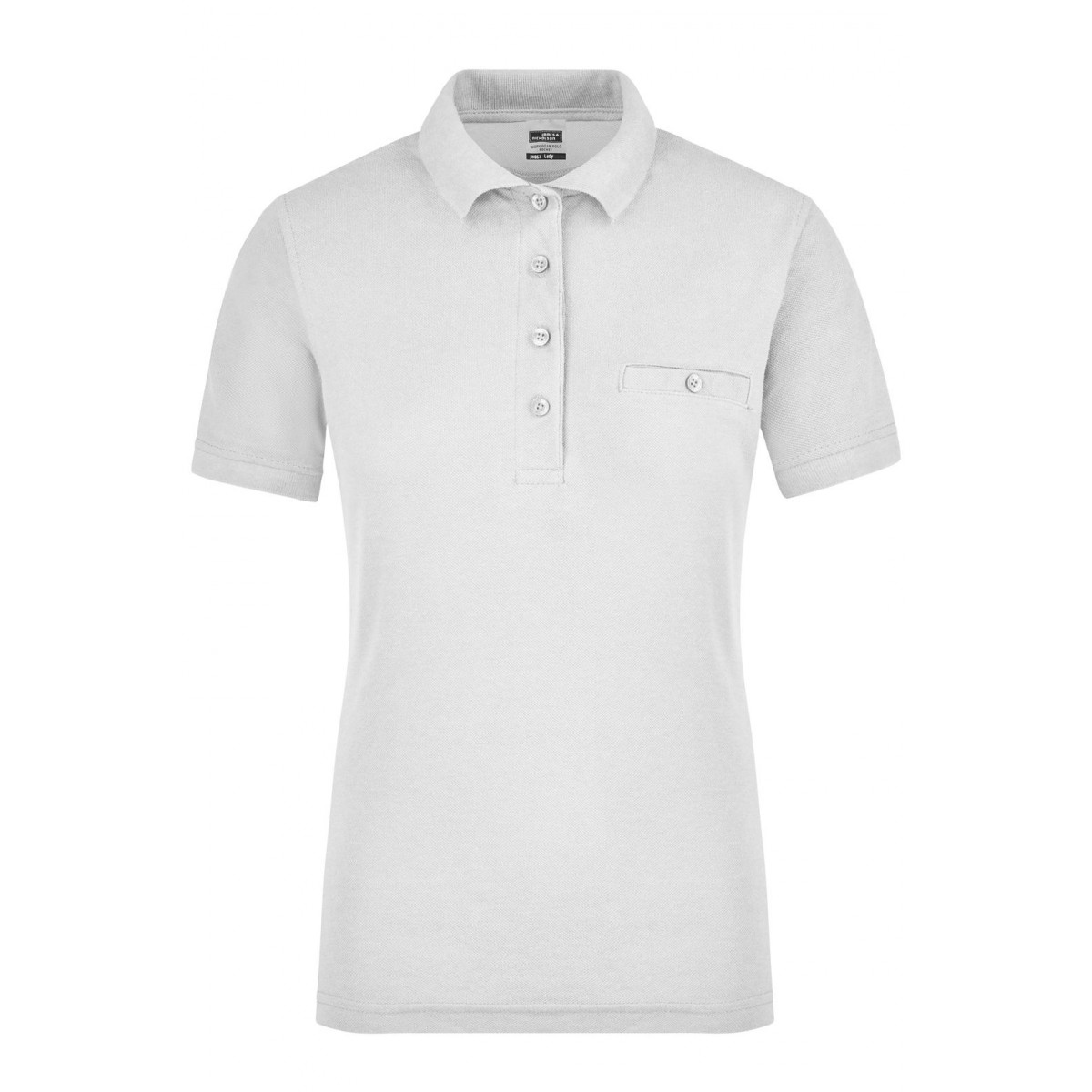 Рубашка поло женская JN867 Ladies Workwear Polo Pocket - Белый