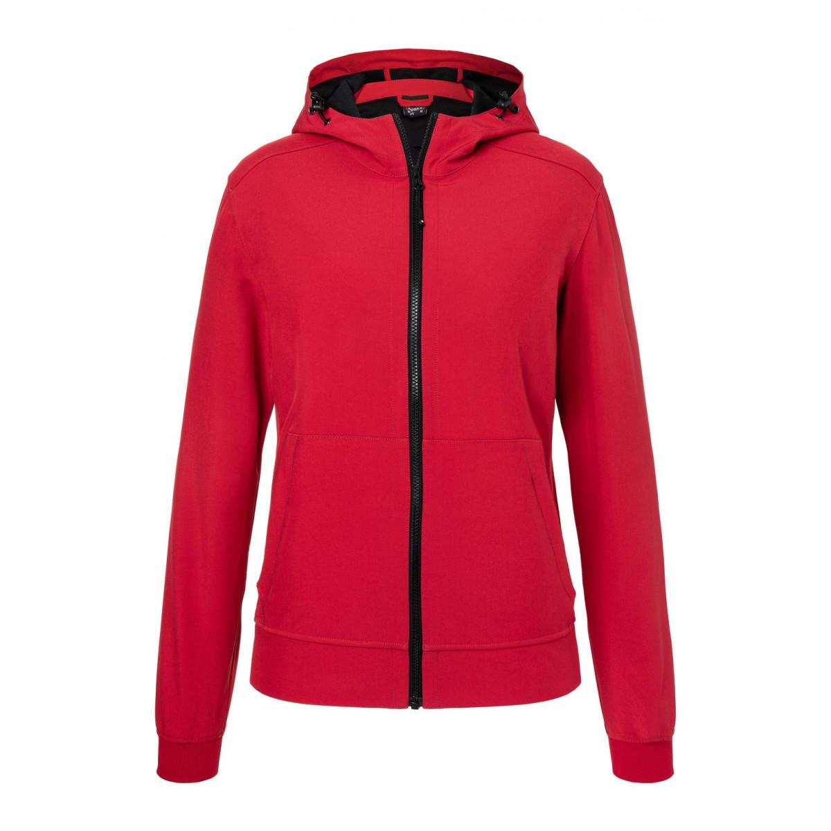 Куртка женская JN1145 Ladies Hooded Softshell Jacket - Красный/Черный