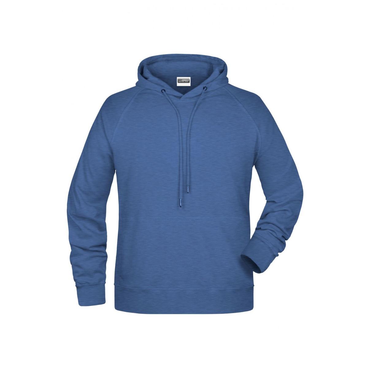 Толстовка мужская 8024 Mens Hoody - Светло-синий меланж