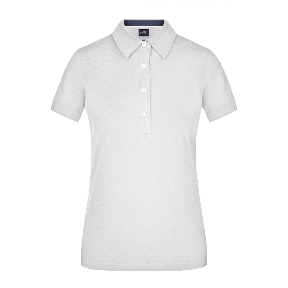 Рубашка поло женская JN969 Ladies Plain Polo - Белый/Джинс