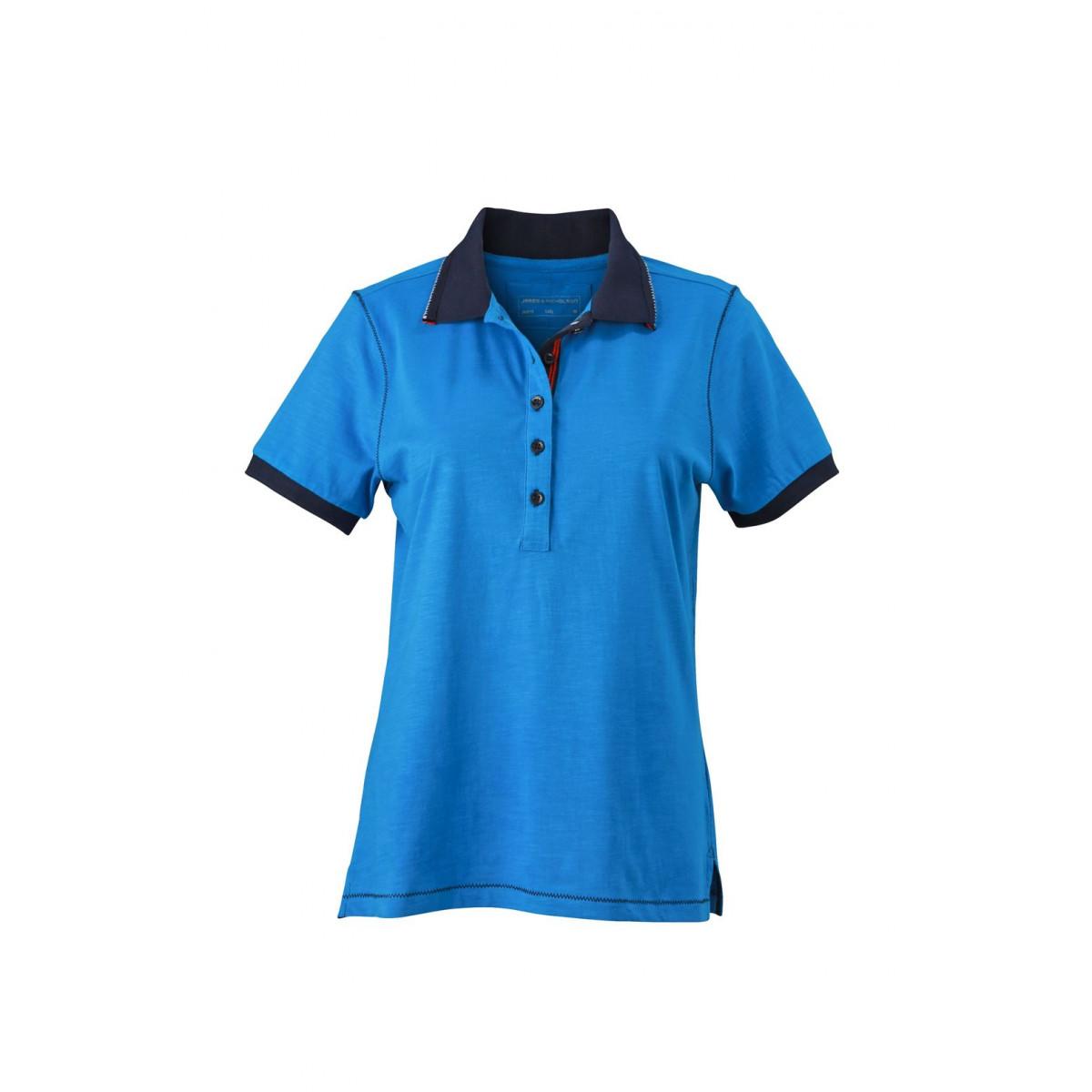 Рубашка поло женская JN979 Ladies Urban Polo - Ярко-синий/Темно-синий
