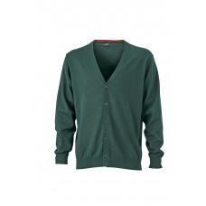 Кардиган мужской JN661 Men's V-Neck Cardigan - Темно-зеленый
