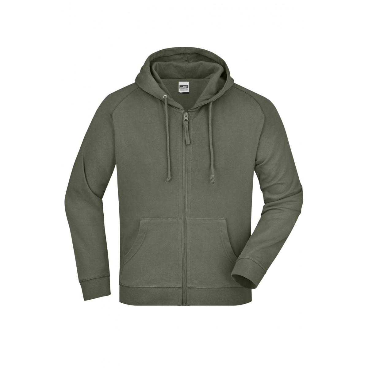 Толстовка мужская JN059 Hooded Jacket - Оливковый