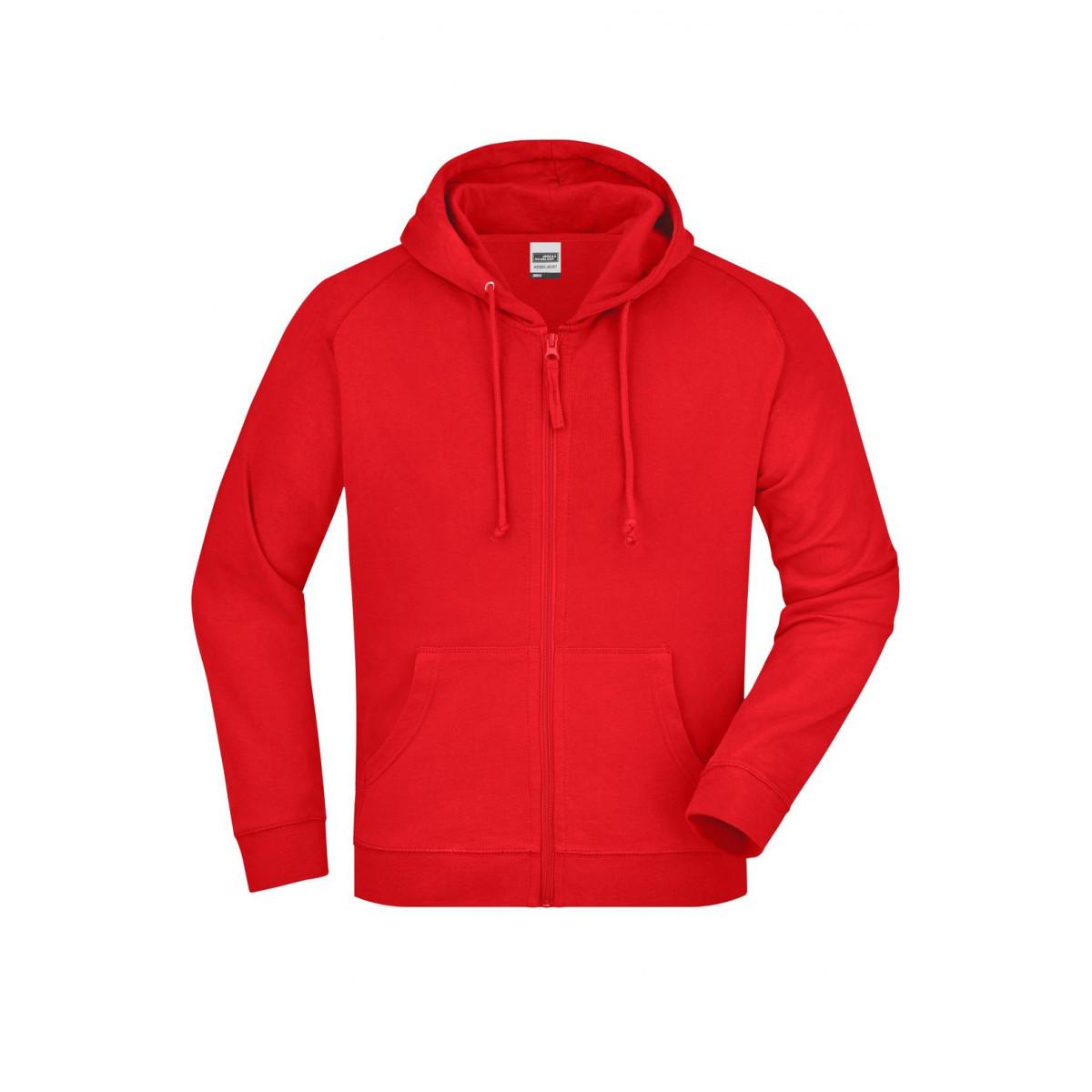 Толстовка мужская JN059 Hooded Jacket - Красный