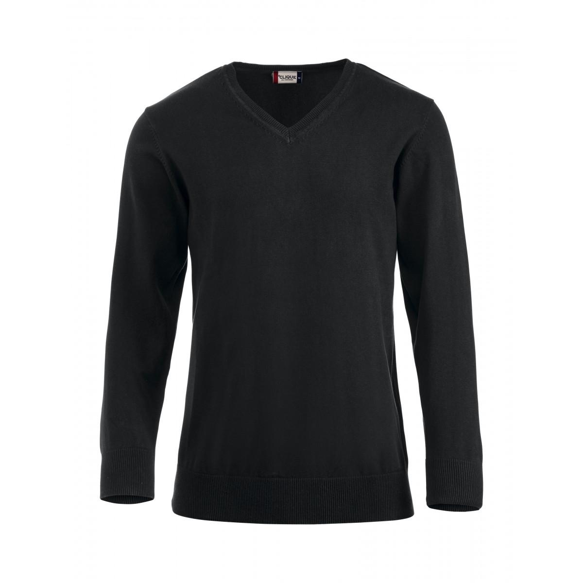 Пуловер мужской 021174 Aston - Черный