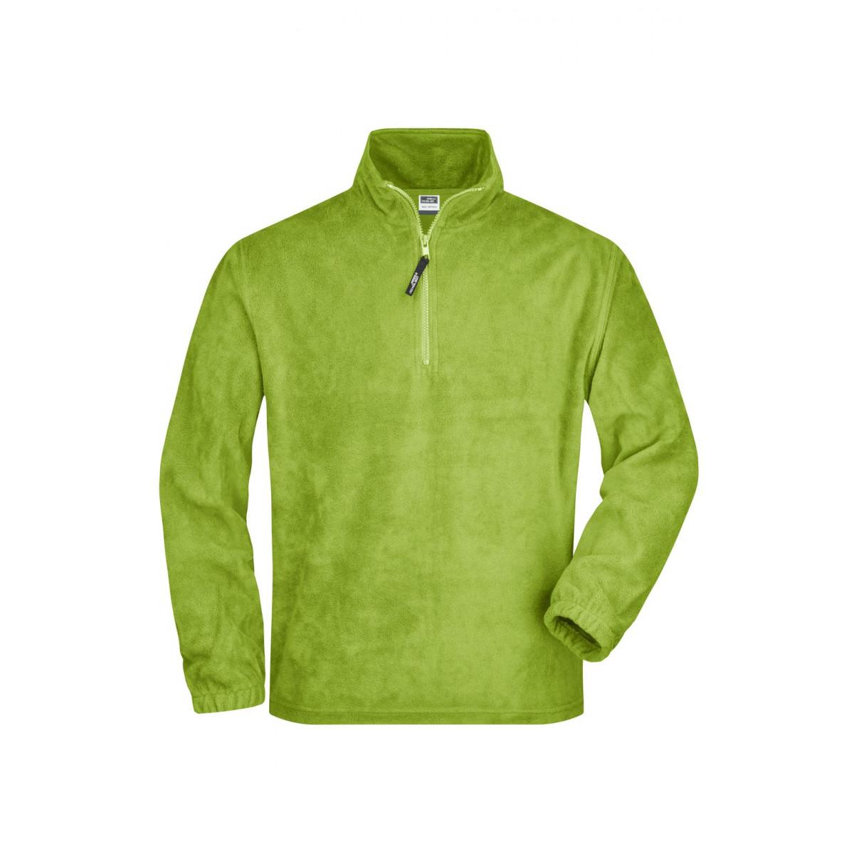 Толстовка мужская JN043 Half-Zip Fleece - Лайм