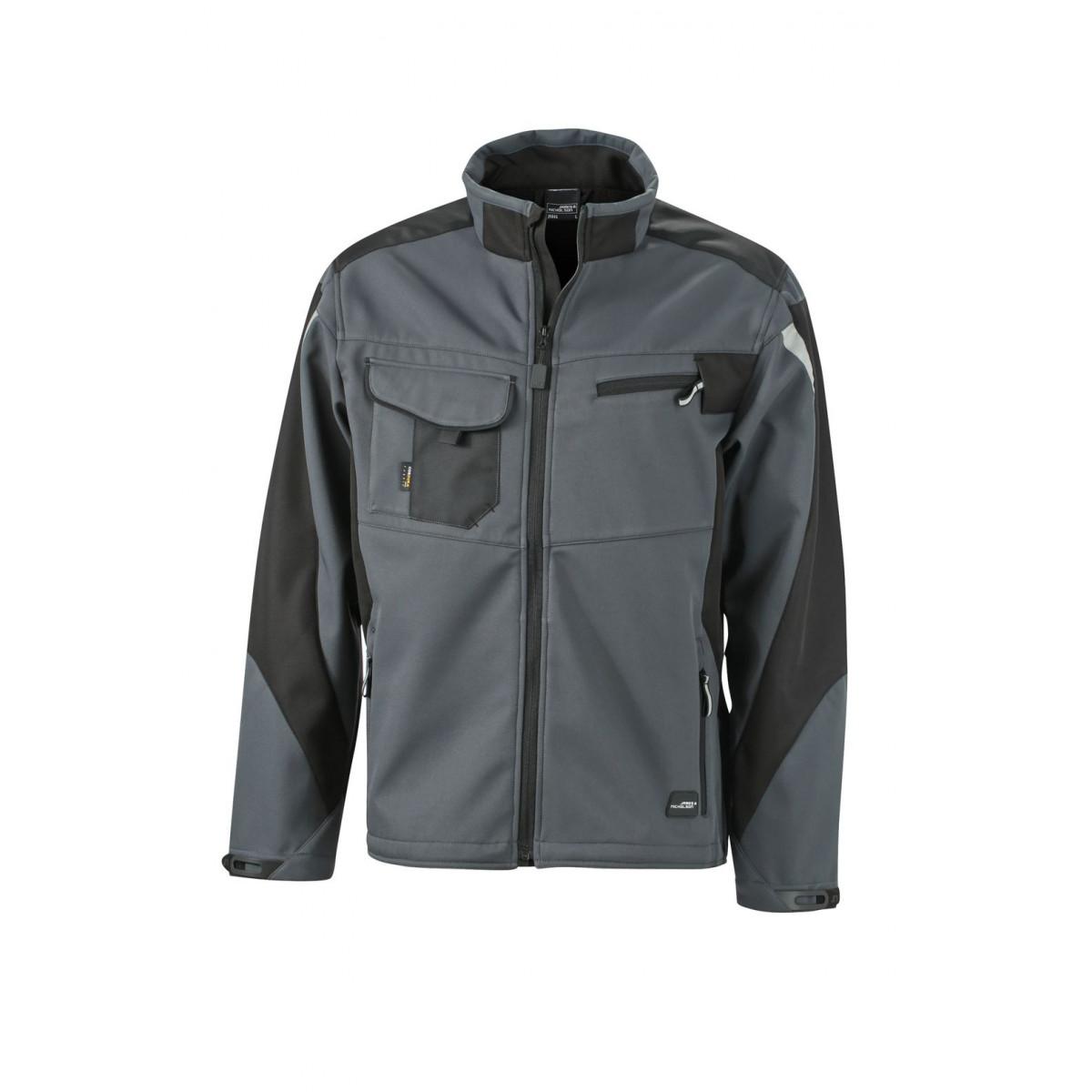 Куртка мужская JN844 Workwear Softshell Jacket - Карбон/Черный