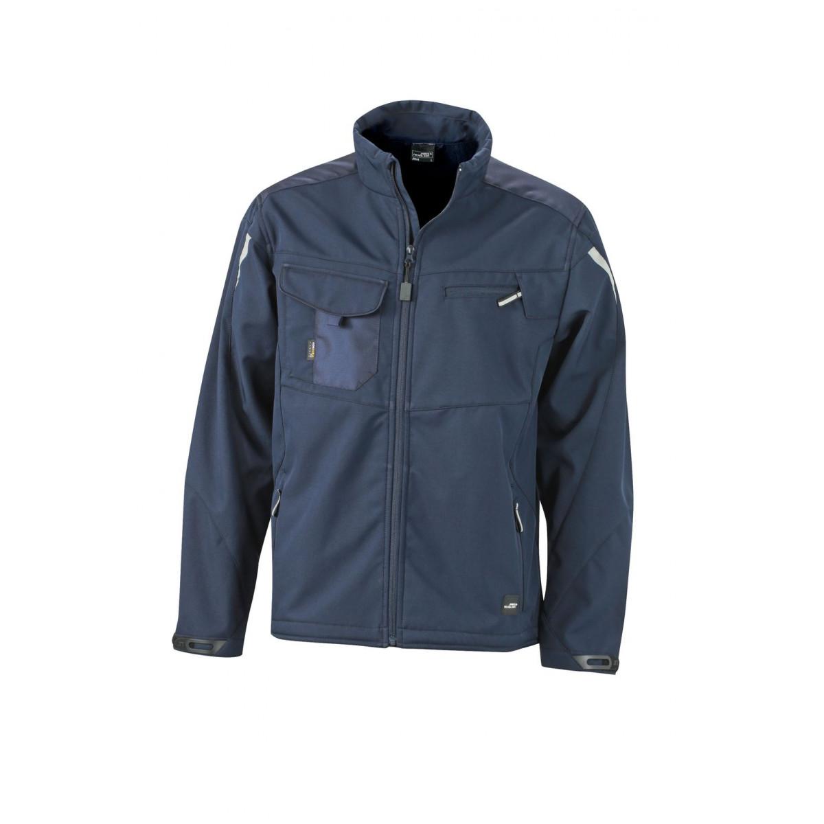 Куртка мужская JN844 Workwear Softshell Jacket - Темно-синий/Темно-синий
