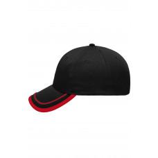 Бейсболка MB6501 6 Panel Piping Cap - Черный/Красный