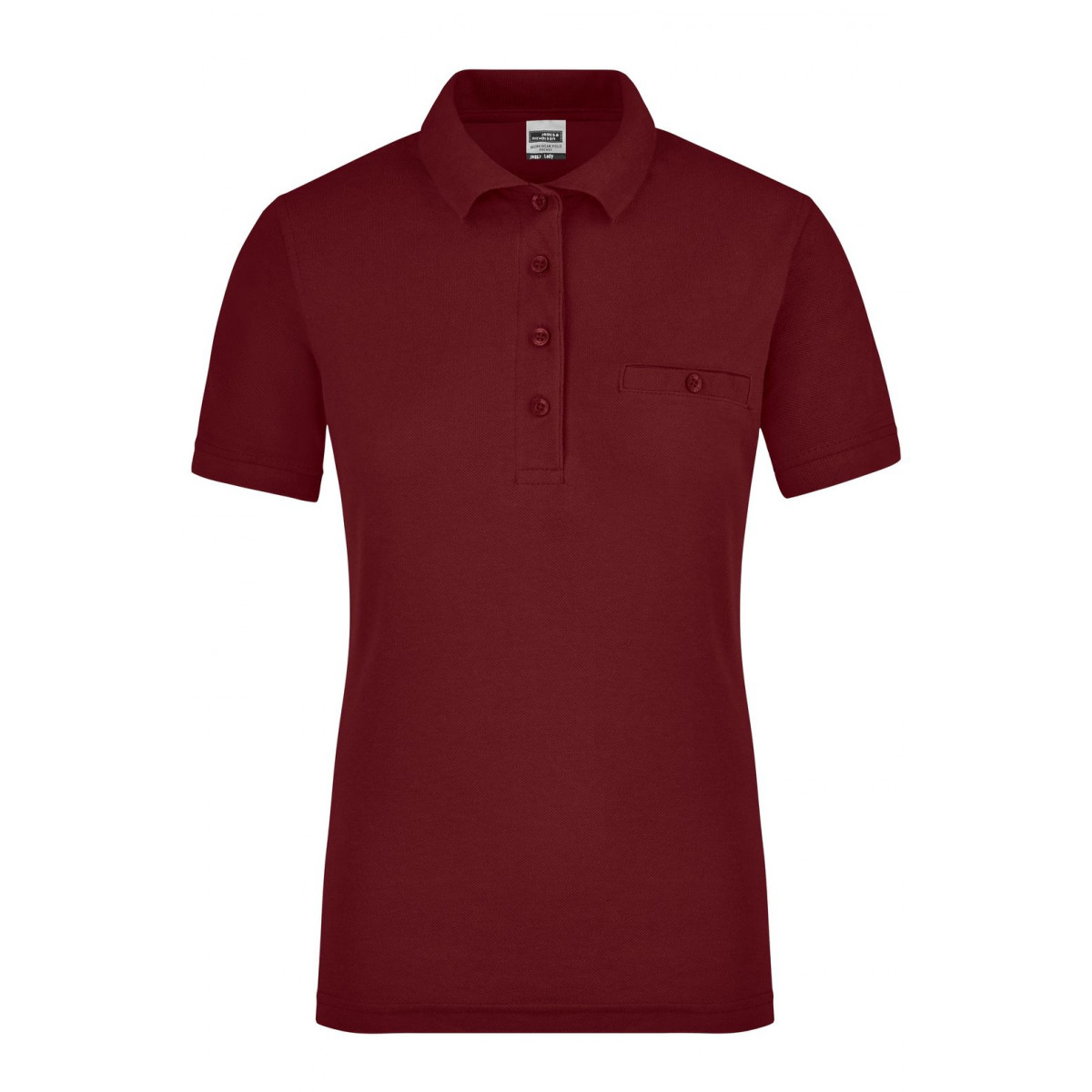 Рубашка поло женская JN867 Ladies Workwear Polo Pocket - Бордовый
