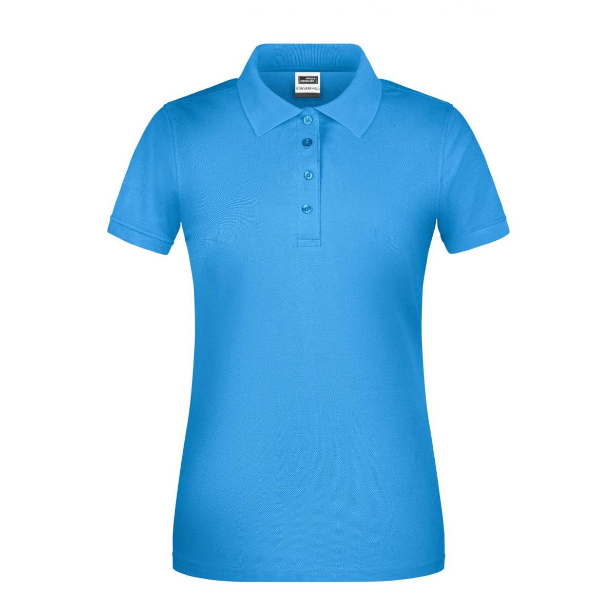 Рубашка поло женская JN873 Ladies BIO Workwear Polo - Аква