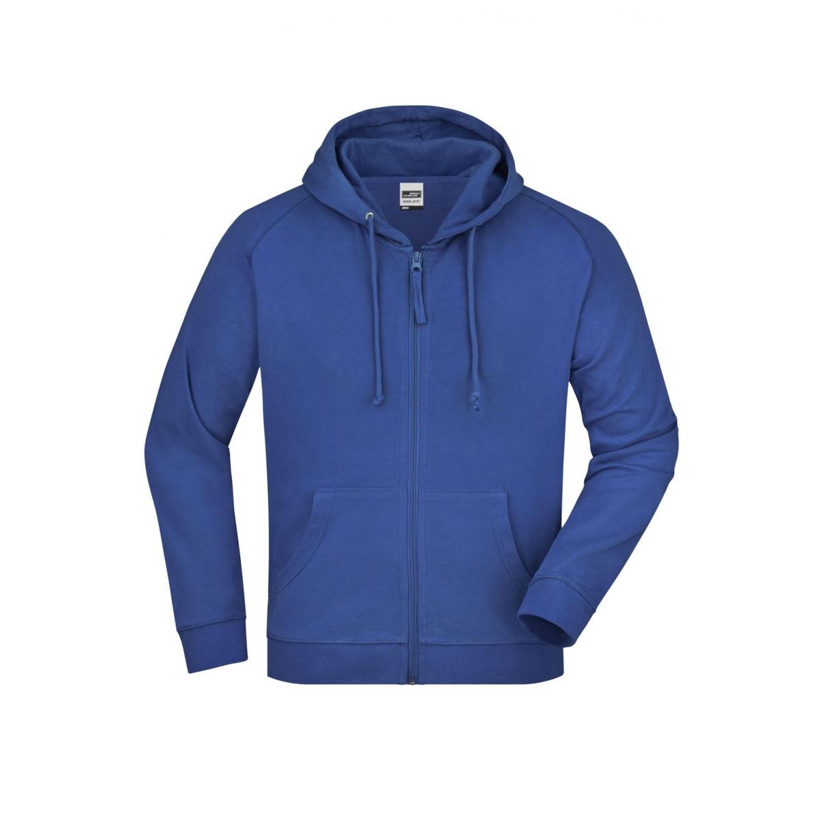 Толстовка мужская JN059 Hooded Jacket - Ярко-синий