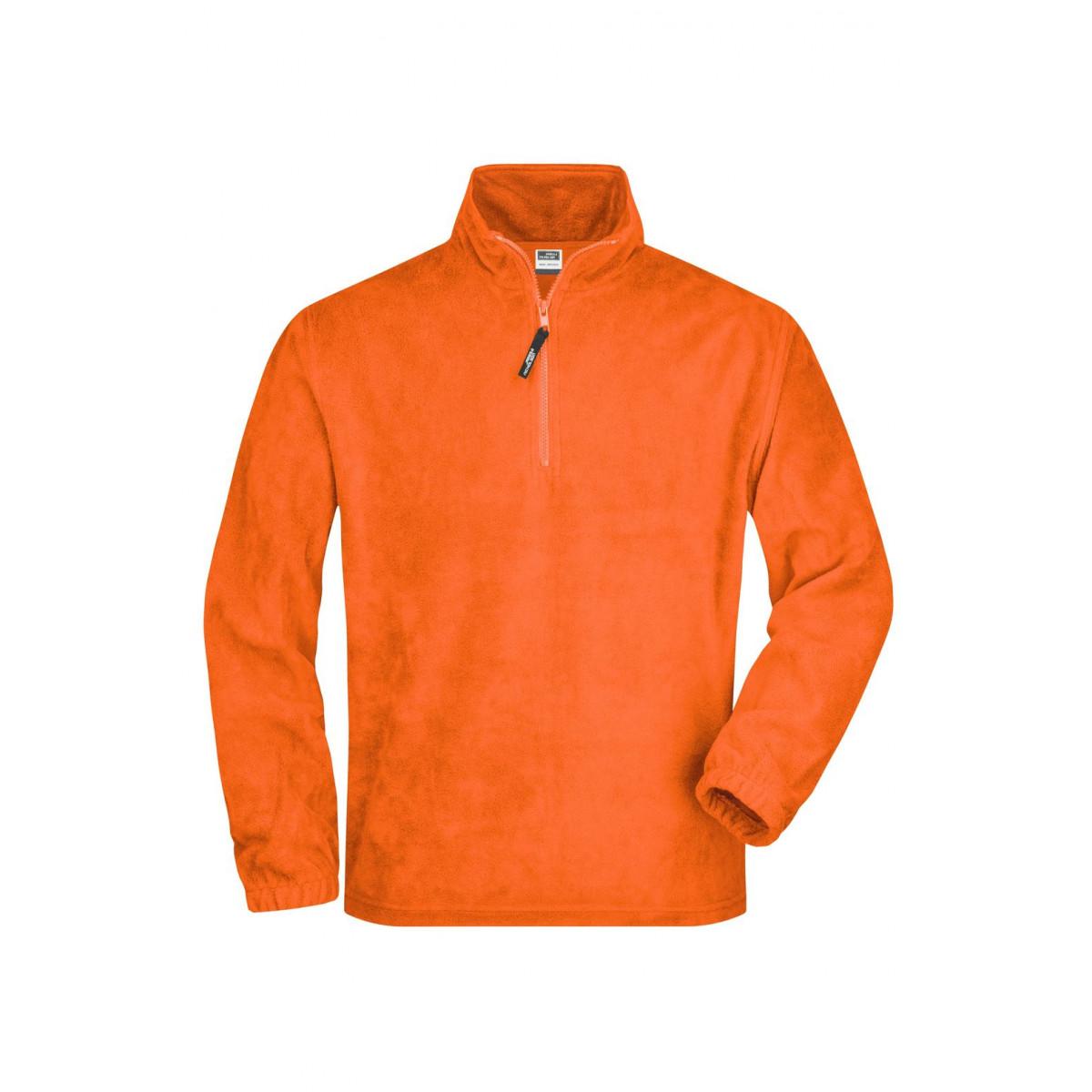 Толстовка мужская JN043 Half-Zip Fleece - Оранжевый