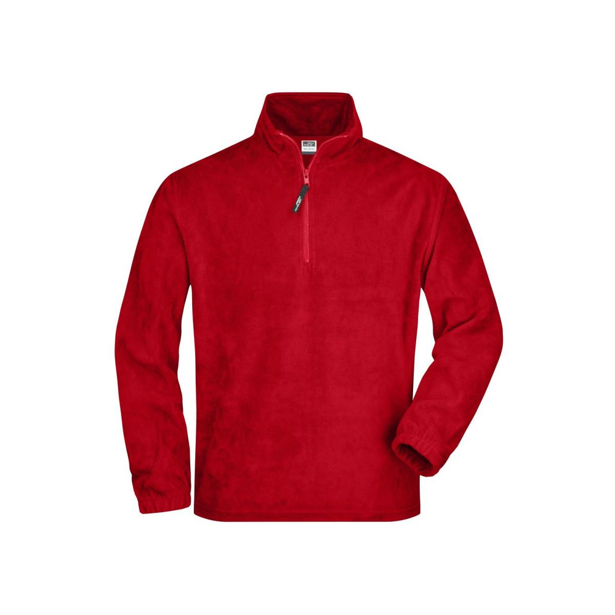 Толстовка мужская JN043 Half-Zip Fleece - Красный