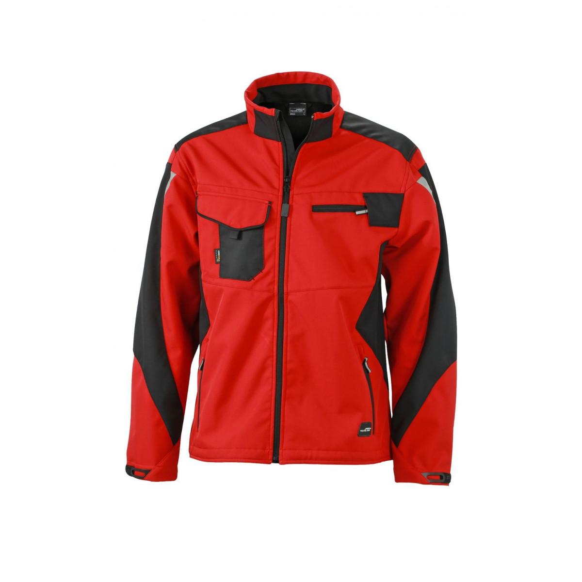Куртка мужская JN844 Workwear Softshell Jacket - Красный/Черный