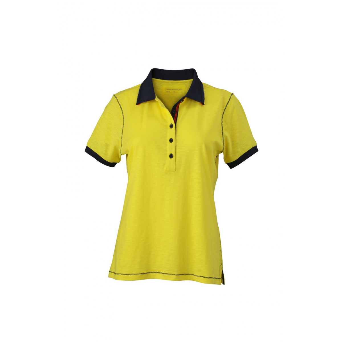 Рубашка поло женская JN979 Ladies Urban Polo - Желтый/Темно-синий