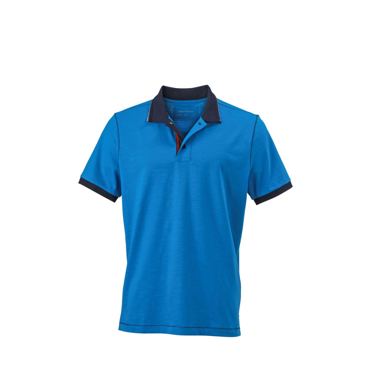 Рубашка поло мужская JN980 Mens Urban Polo - Ярко-синий/Темно-синий