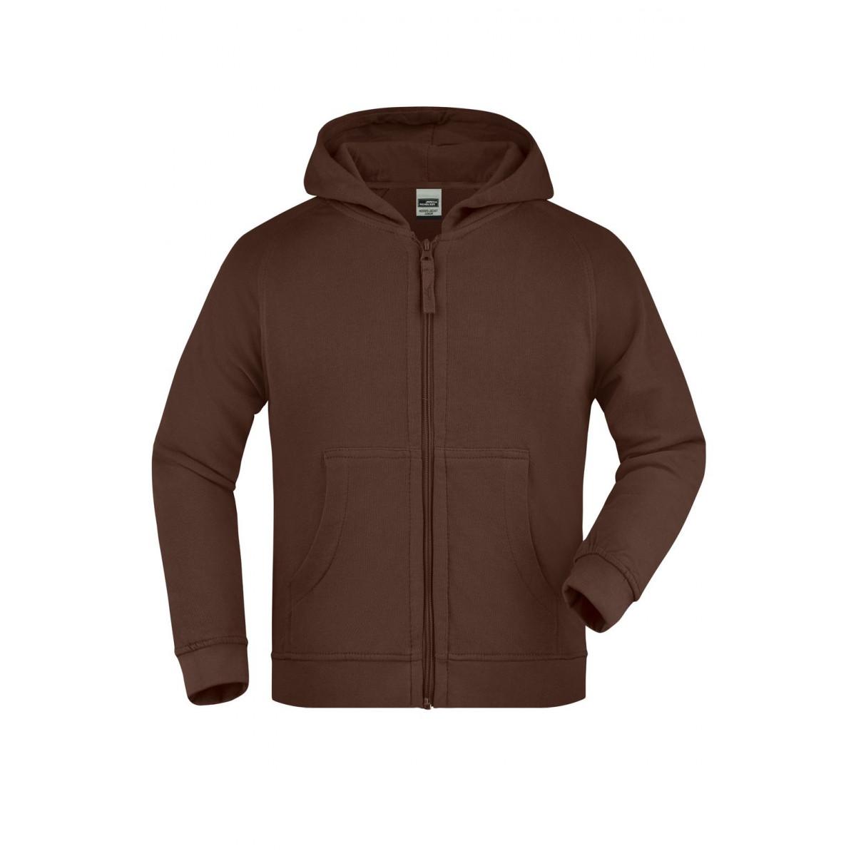 Толстовка детская JN059K Hooded Jacket Junior - Коричневый