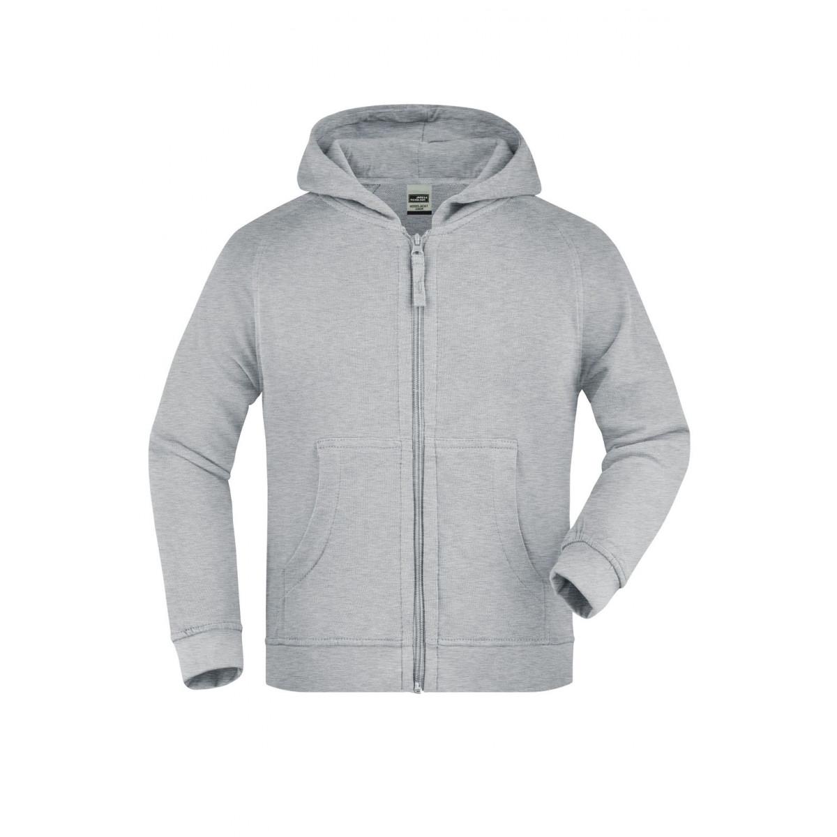 Толстовка детская JN059K Hooded Jacket Junior - Серый меланж