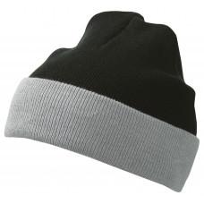 Шапка MB7550 Knitted Cap - Черный/Серый
