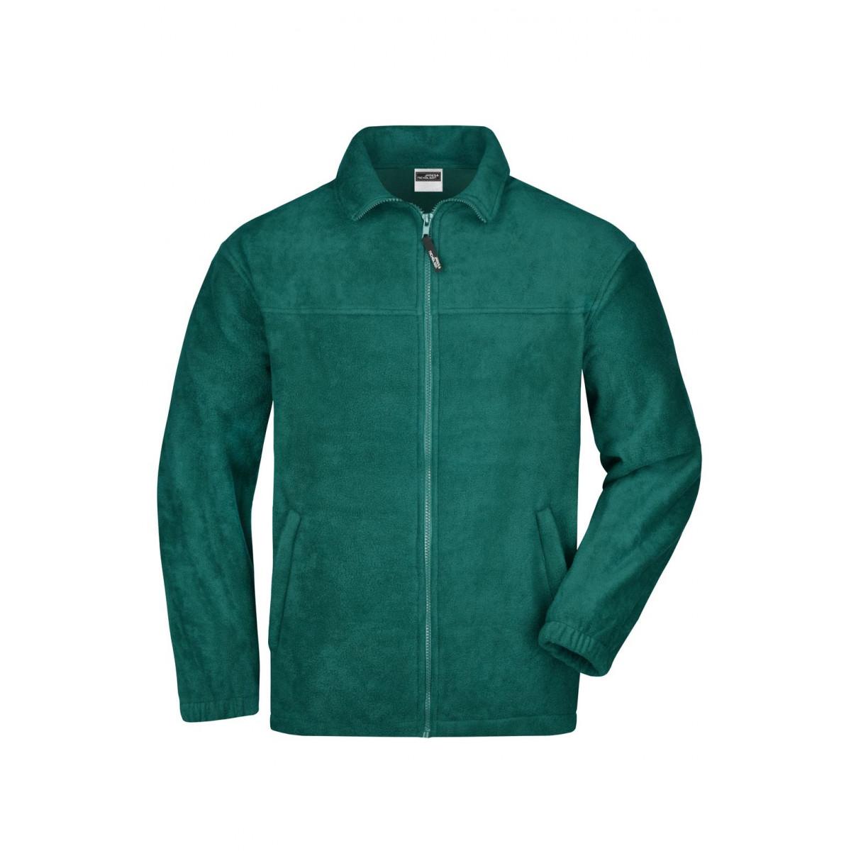 Толстовка мужская JN044 Full-Zip Fleece - Темно-зеленый