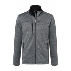 Куртка мужская JN1148 Men's Softshell Jacket - Темно-серый меланж/Черный