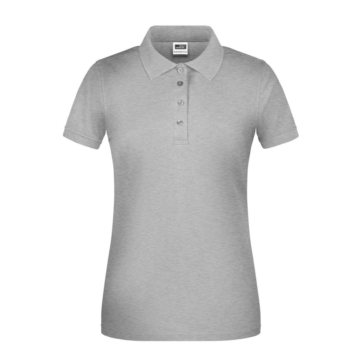 Рубашка поло женская JN873 Ladies BIO Workwear Polo - Серый меланж