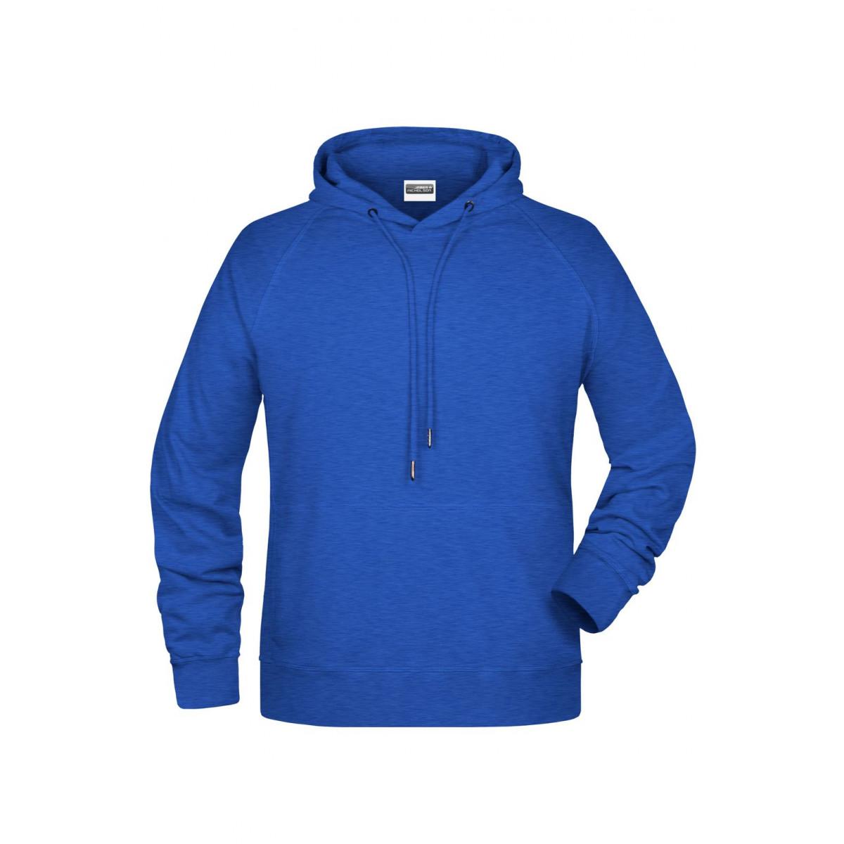 Толстовка мужская 8024 Mens Hoody - Ярко-синий меоанж