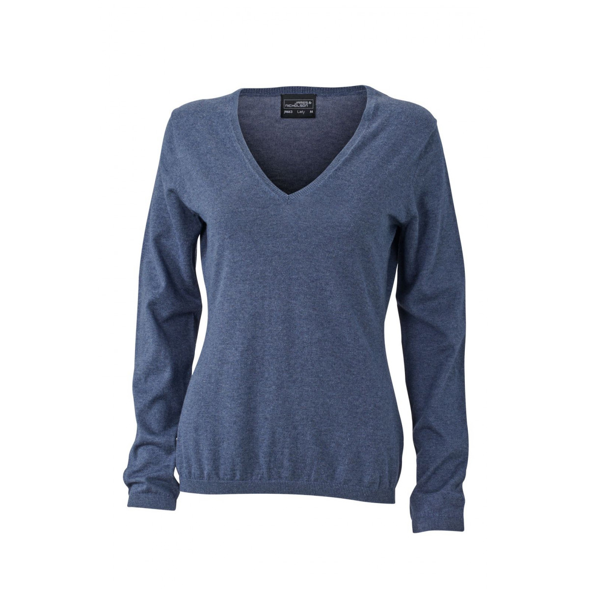 Пуловер женский JN663 Ladies Pullover - Джинс меланж