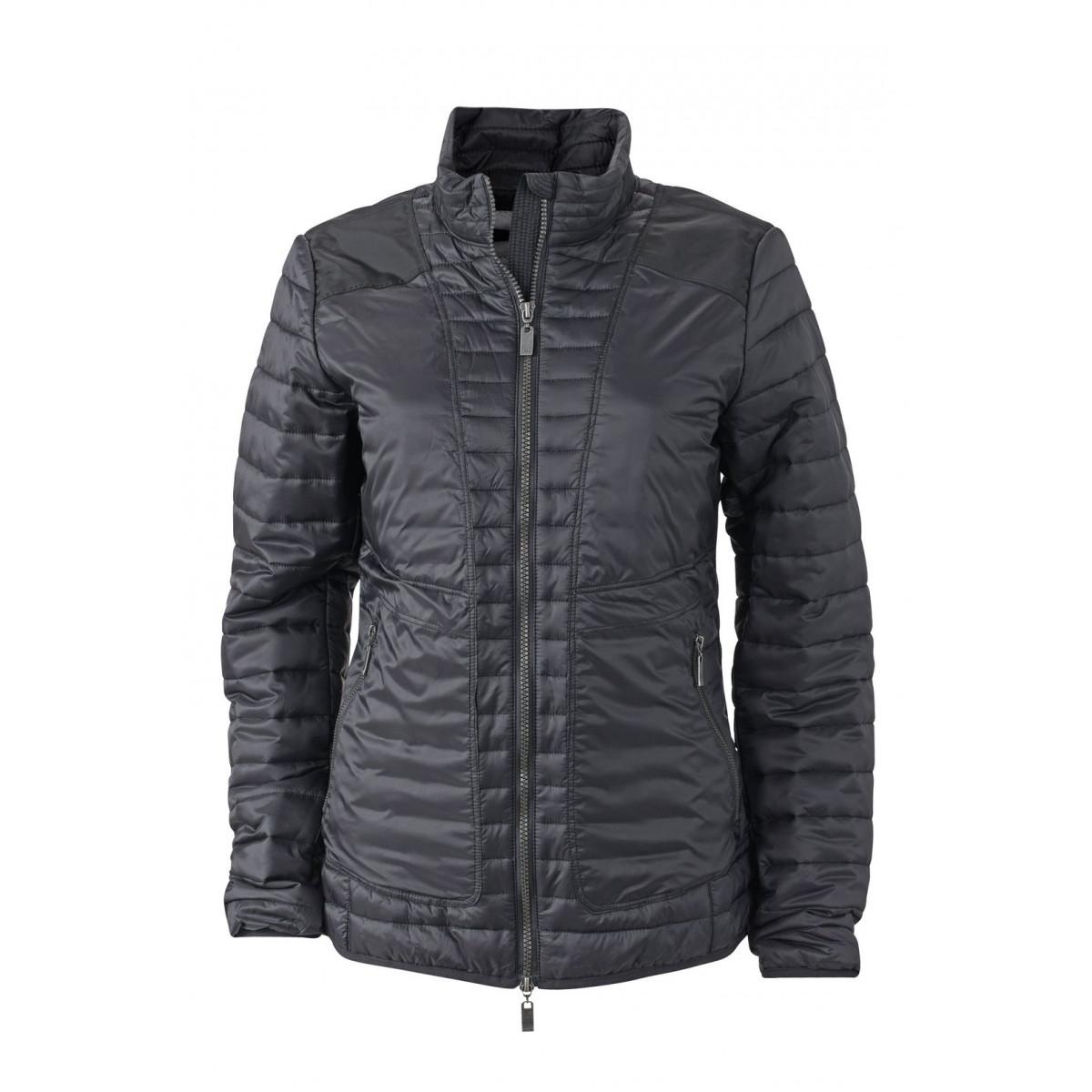 Куртка женская JN1111 Ladies Lightweight Jacket - Черный/Серебряный