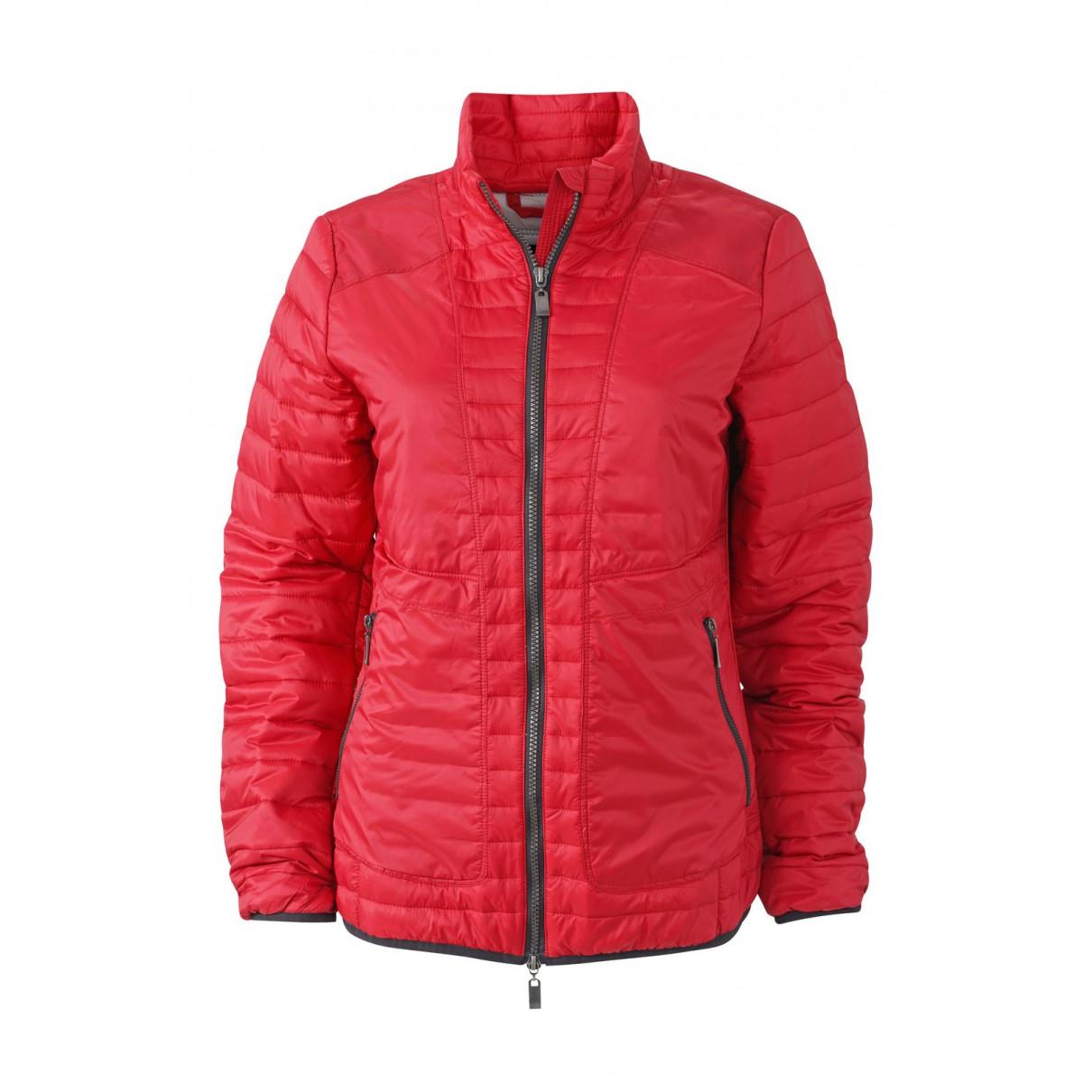 Куртка женская JN1111 Ladies Lightweight Jacket - Ярко-красный/Серебряный