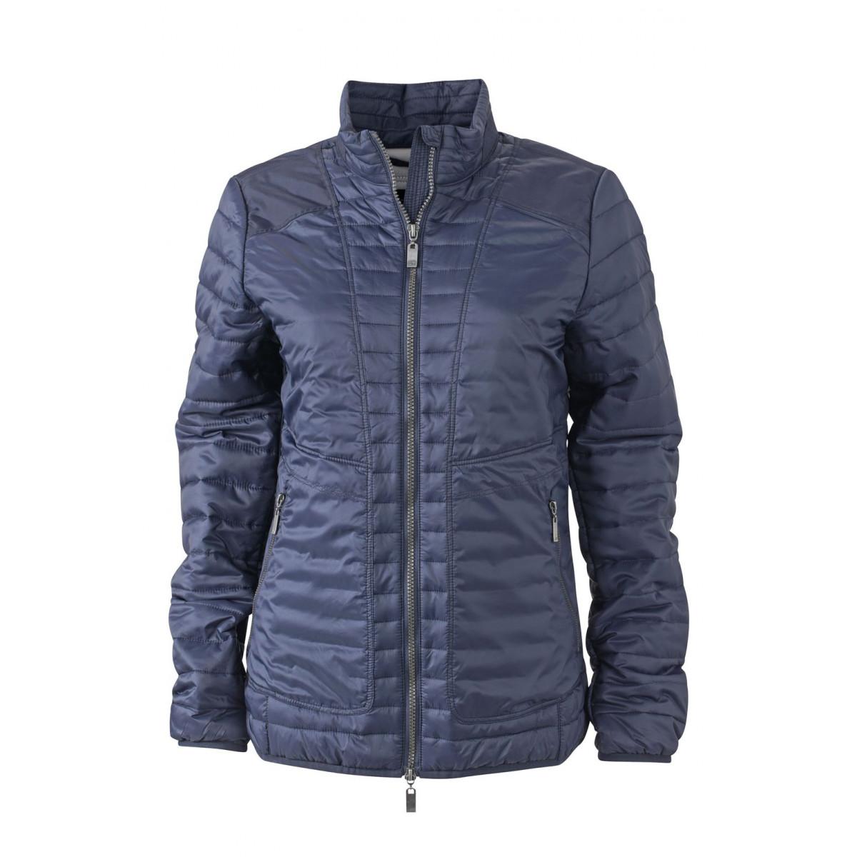 Куртка женская JN1111 Ladies Lightweight Jacket - Темно-синий/Серебряный