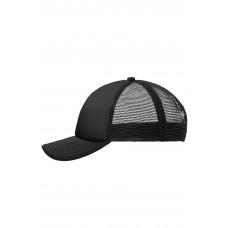 Бейсболка MB071 5 Panel Polyester Mesh Cap for Kids - Черный/Черный
