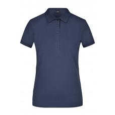 Рубашка поло женская JN709 Ladies' Elastic Polo Piqué - Темно-синий