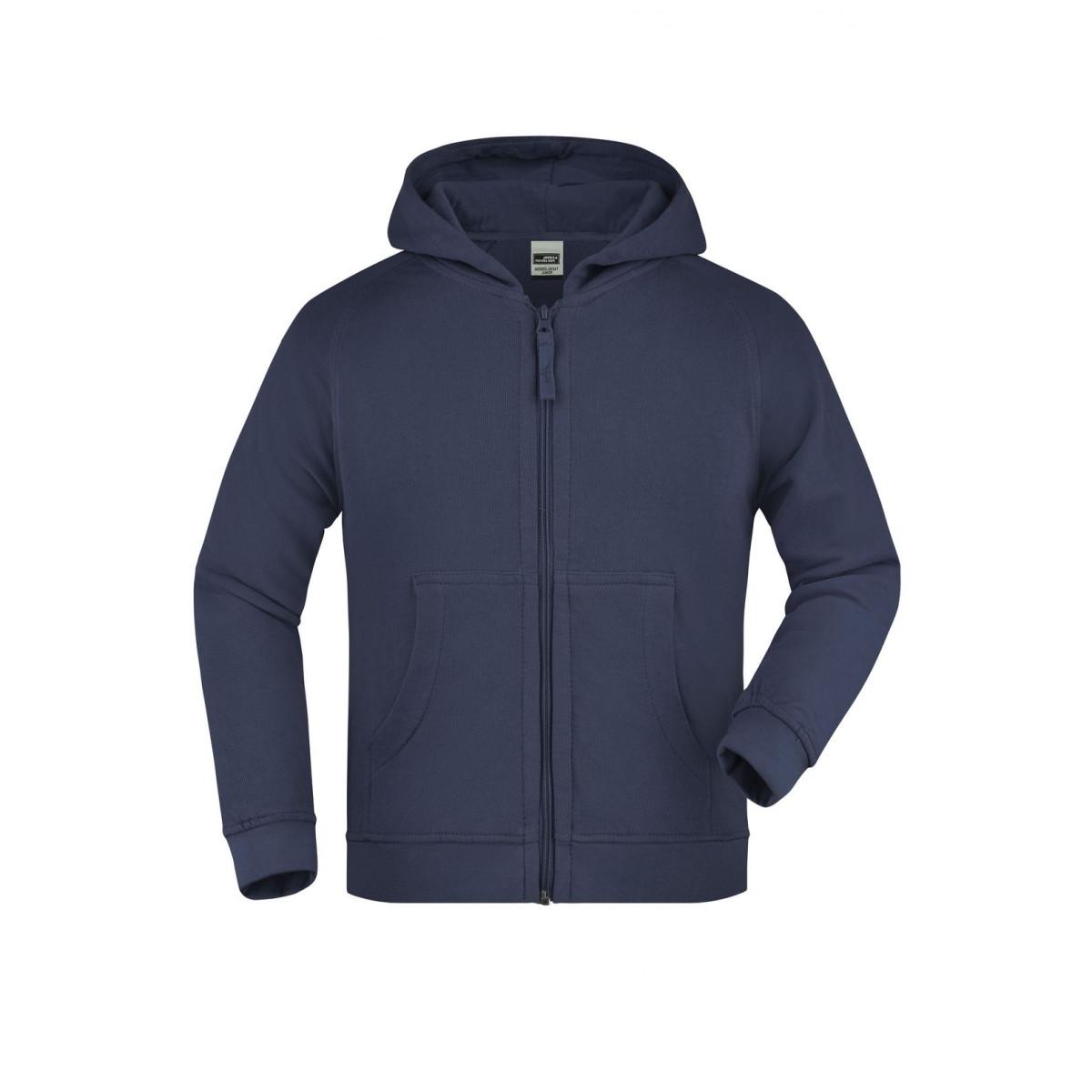 Толстовка детская JN059K Hooded Jacket Junior - Темно-синий