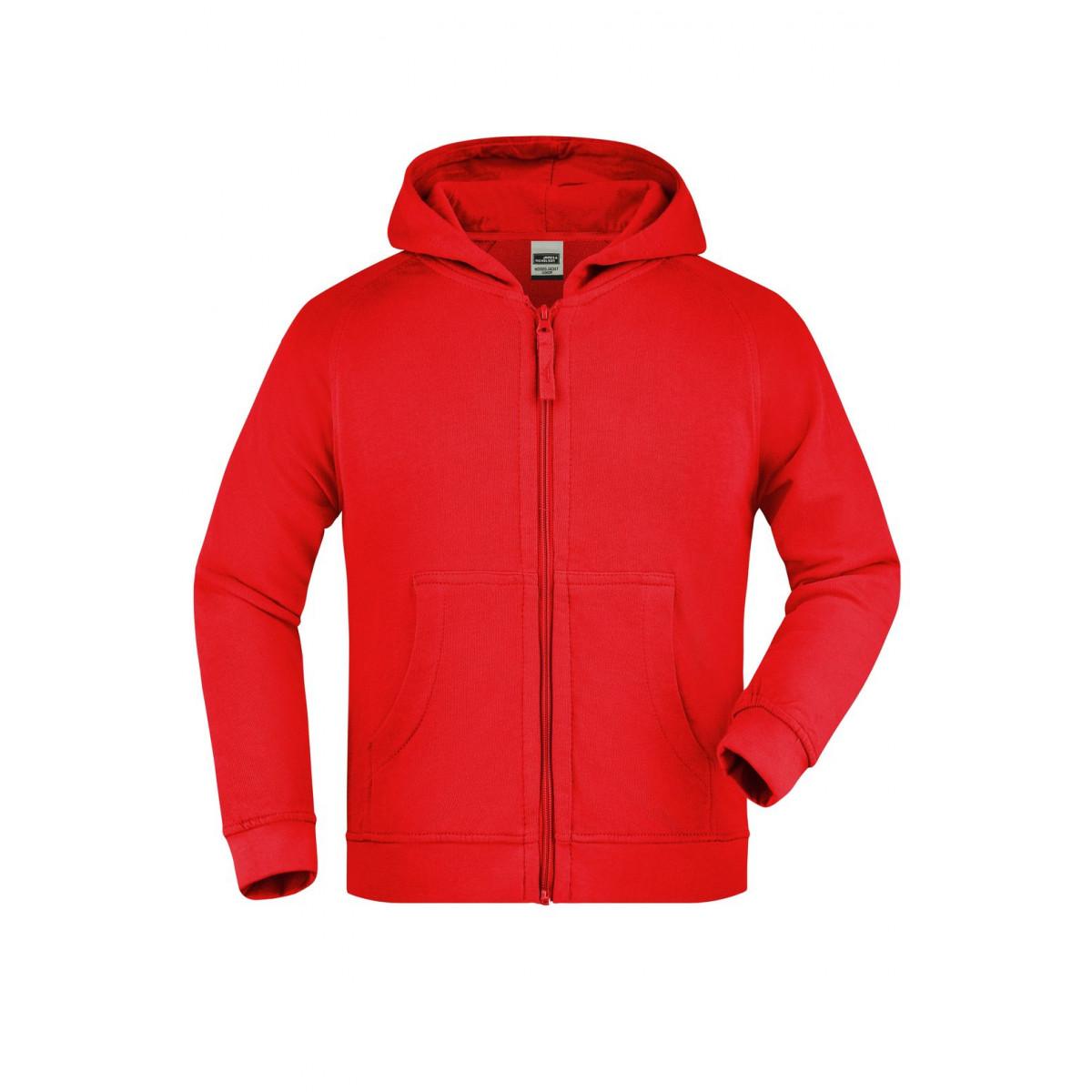 Толстовка детская JN059K Hooded Jacket Junior - Красный