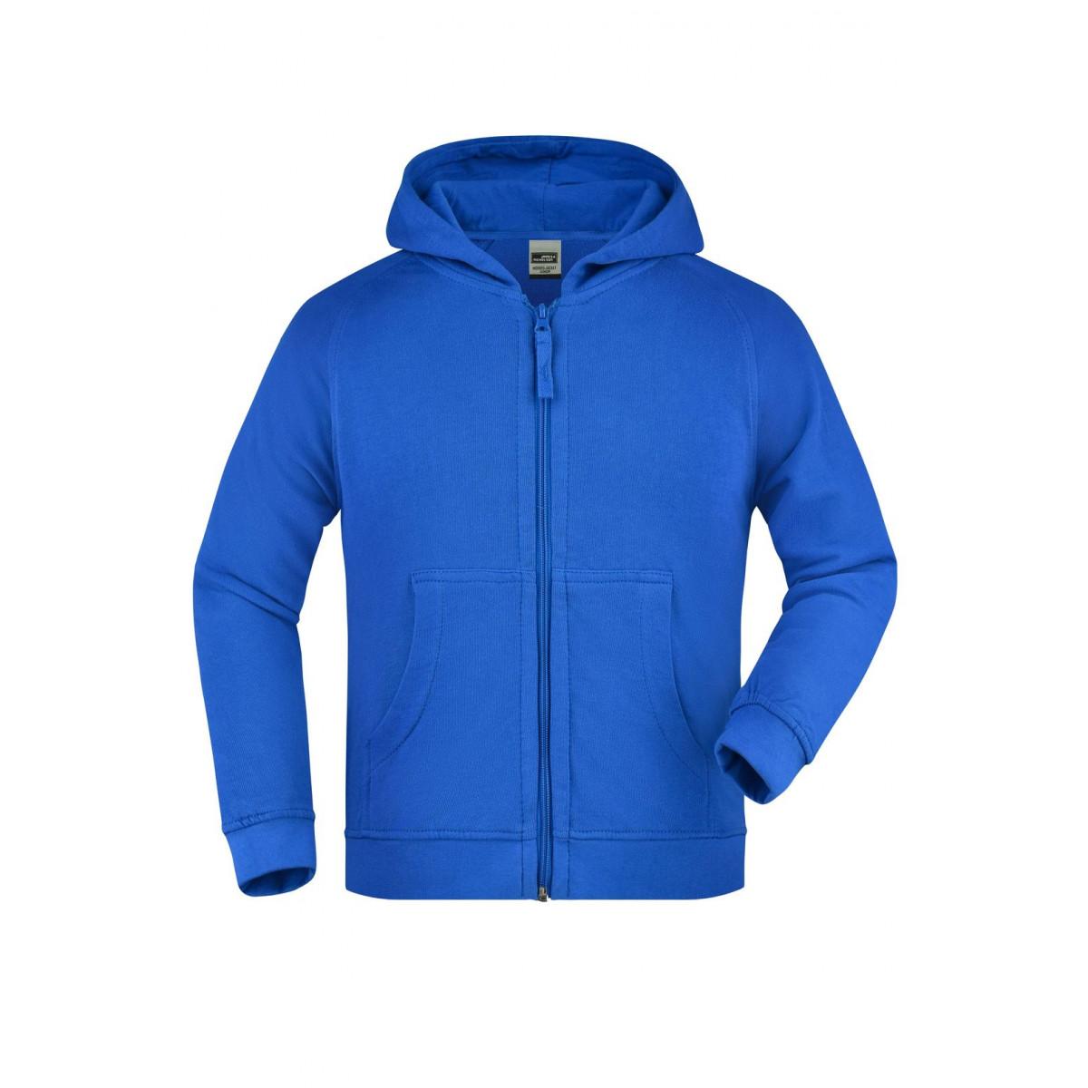 Толстовка детская JN059K Hooded Jacket Junior - Ярко-синий