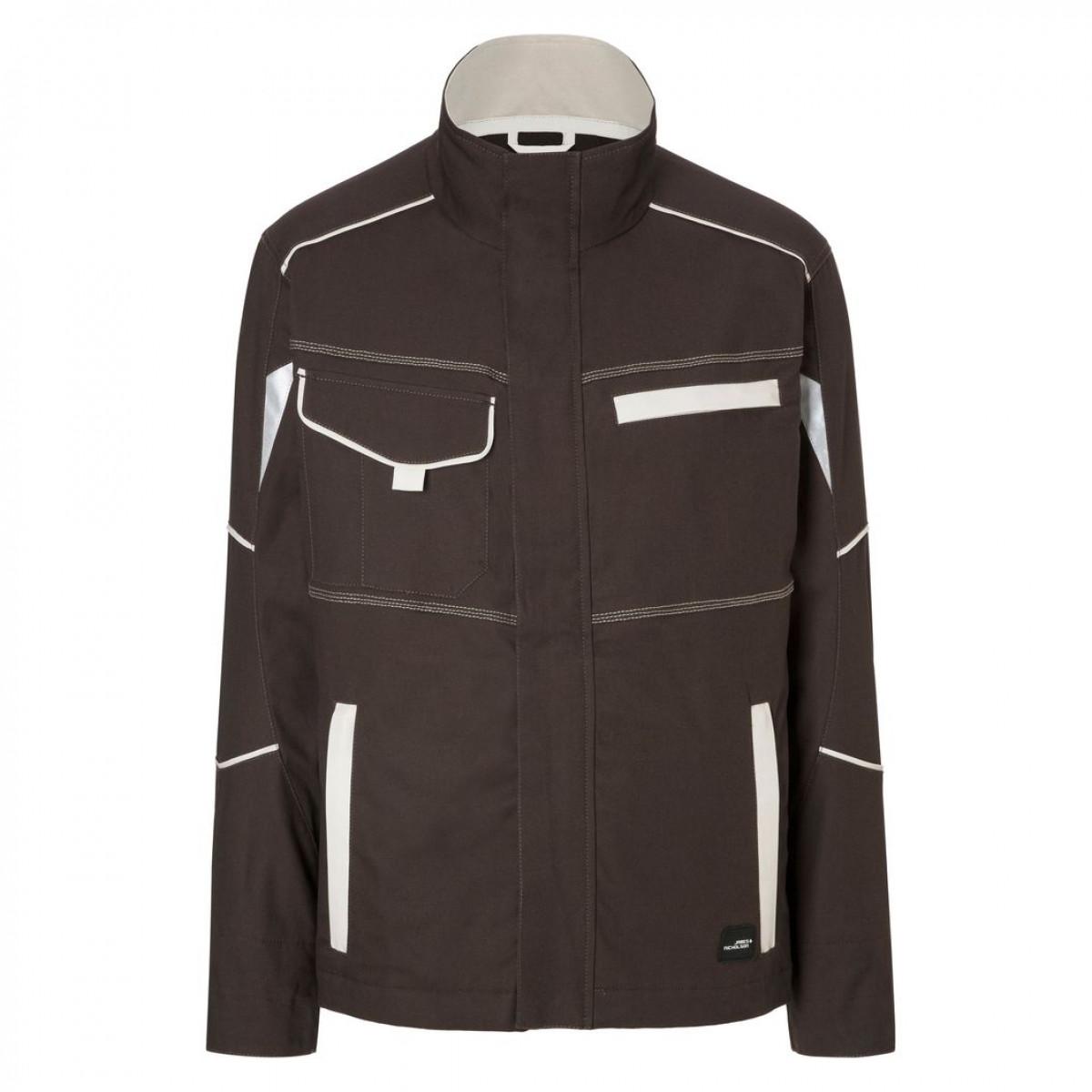 Куртка мужская JN849 Workwear Jacket - Коричневый/Бежевый