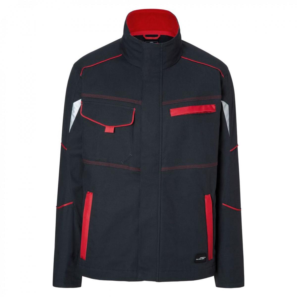 Куртка мужская JN849 Workwear Jacket - Темно-серый/Красный