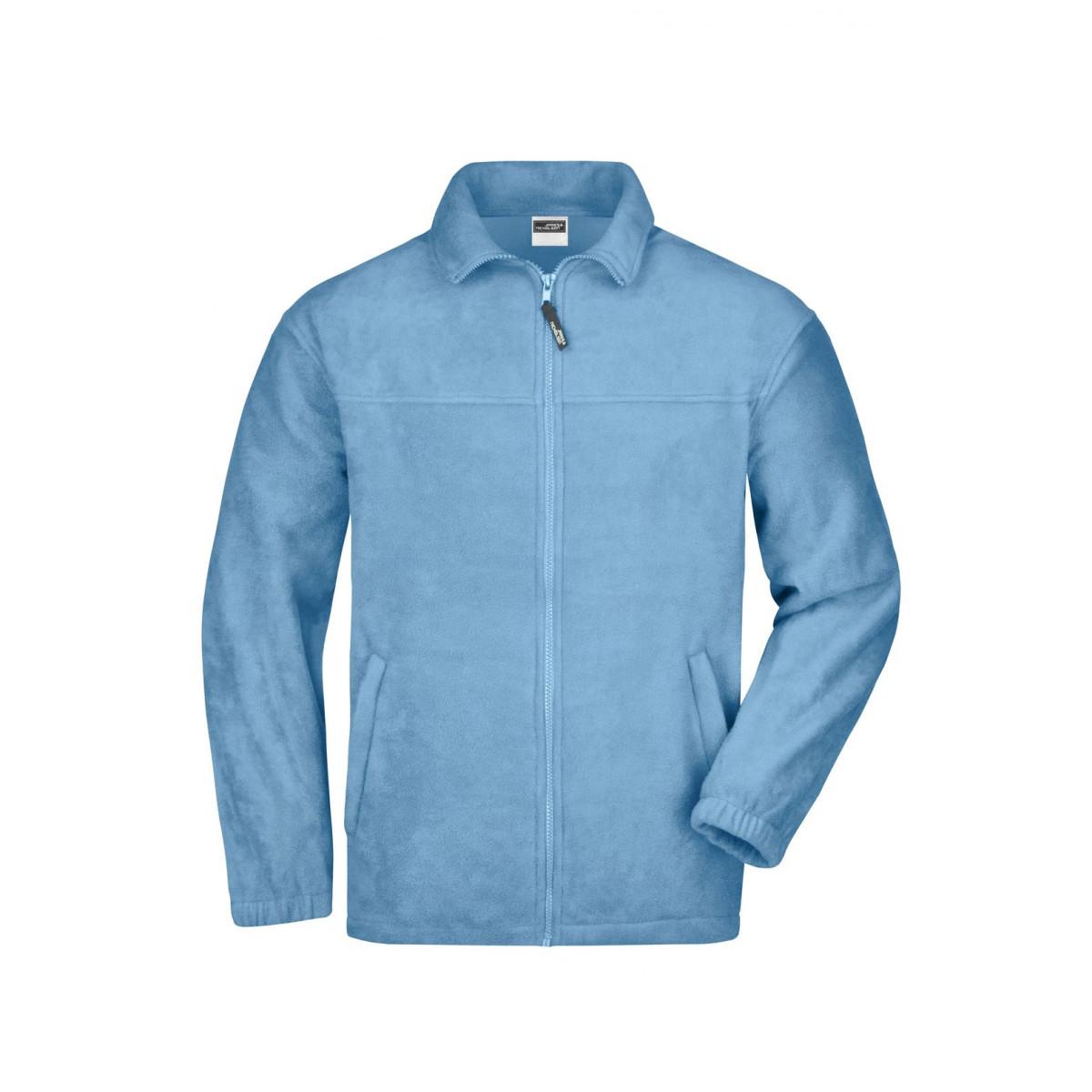 Толстовка мужская JN044 Full-Zip Fleece - Светло-голубой