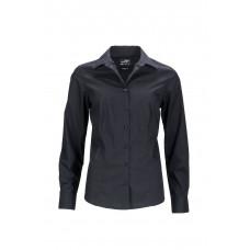 Рубашка женская JN641 Ladies' Business Shirt Longsleeve - Черный