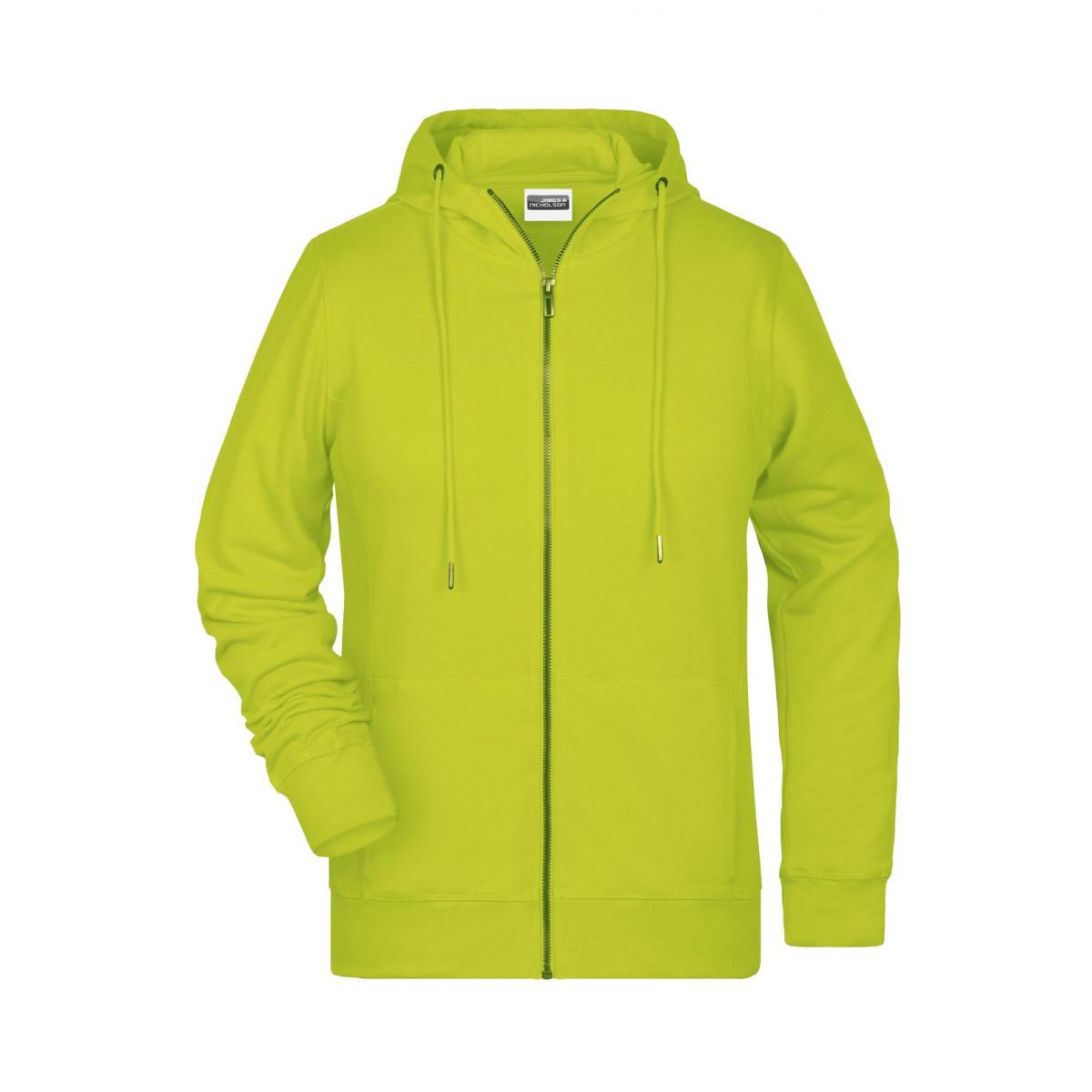 Толстовка женская 8025 Ladies Zip Hoody - Ярко-желтый